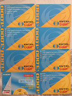 CHILI : CHI26 8 Cards Entel : Coming From EASTERN ISLANDS USED - Cile