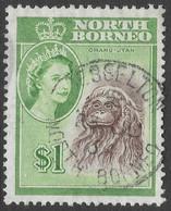 North Borneo. 1961 QEII. $1 Used SG 403 - Bornéo Du Nord (...-1963)