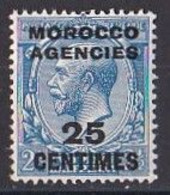 MAROC  Marocco  Agencies  1917  1924  King  George V Timbre  25 Centimes  Neuf ** MNH - Morocco Agencies / Tangier (...-1958)