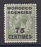 MAROC  Marocco  Agencies  1917  1924  King  George V Timbre  75 Centimes  Neuf ** MNH - Morocco Agencies / Tangier (...-1958)
