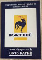 Pub Cinema Pathe Wepler Paris 1998 -arme Fatale Taxi ... - Manifesti Su Carta