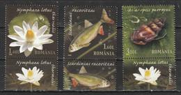 2008 -  Réserves Naturelles Avec Tabs  Mi No 6334/6336 - Usati