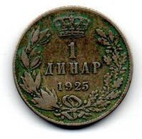 Yougoslavie  - Dinar 1925  -  état  TB+ - Yugoslavia
