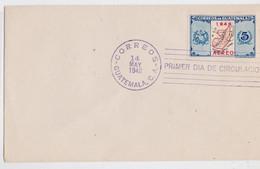 CORREOS GUATEMALA PRIMER DIA DE CIRCULACION FDC 1948 AEREO ENVELOPPE PREMIER JOUR - Guatemala
