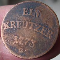 1 Kreuzer Joseph WENZEL 1773 G - Taler & Doppeltaler