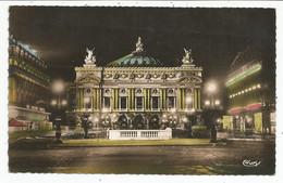 PARIS  -- L'Opéra Illuminé.  (scan Verso) - Parigi By Night