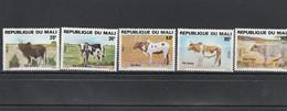 Mali - Yvert Série 417 à 421 **  - Animaux Bovins - Mali (1959-...)