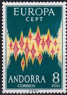 ANDORRA SPANISCH [1972] MiNr 0071 ( */mh ) [01] CEPT - Gebraucht