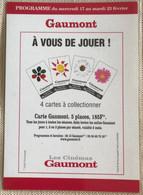 Cinema Gaumont Programme  4 Cartes  Ciollectionner - Manifesti Su Carta