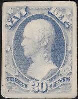 États-Unis 1873 Y&T Service 635. Essai, Timbre Pour Vérification Comptable Du Ministère De La Marine. Alexander Hamilton - Militaria