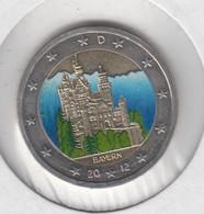 ALLEMAGNE - 2 Euros 2012 (chateau De Neuschwanstein)(atelier F)(colorisé) - Deutschland