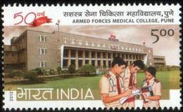 India 2012 MNH 1v, Medical College Of Armed Forces, Stethoscope, Medicine - Medicina