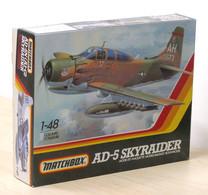 Modellismo Aereo - Matchbox AD-5 Skyraider Model Kit 1-48 - 1983 - Aerei E Elicotteri