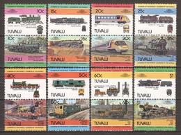 Tuvalu 1984 Mi 228-243 MNH TRAINS - Treni