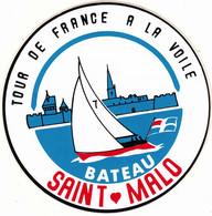 Autocollant 1978 Tour De France à La Voile  Bâteau Saint-Malo  Publicité - Altri