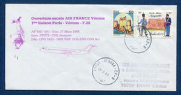 ✈️ Italie - Premier Vol - Paris - Vérome - Air France - Ouverture Escale - 1988 ✈️ - Aerei