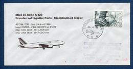 ✈️ Suède - Premier Vol - Paris - Stockholm - Air France - Ouverture Escale - 1988 ✈️ - Aerei