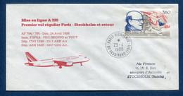 ✈️ France - Premier Vol - Paris - Stockholm - Air France - Ouverture Escale - 1988 ✈️ - Aerei