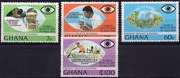GHANA :1976: Y.565-68*** Postfris/neufs/MNH : GEZONDHEID/SANTÉ/HEALTH/OOG/OEUIL/ EYE/ZIEN/VOIR/SEE/LOOK. - Medicina