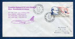 ✈️ France - Premier Vol - Nice - Stockholm - Air France - Ouverture Escale - 1988 ✈️ - Aerei
