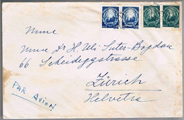 Romania,  For Zurich - Lettere