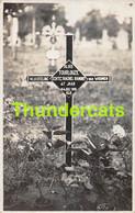 CPA CARTE DE PHOTO GUERRE 1914 1918 WW I OORLOG FOTOKAART VLUCHTELING WOUMEN ALOIS TOURLOUZE - Oorlogsbegraafplaatsen