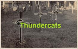 CPA CARTE DE PHOTO GUERRE 1914 1918 WW I OORLOG FOTOKAART VLUCHTELING SLYPE SLIJPE CLERCKEN KLERKEN HOORNEBERGHE COOPMAN - Oorlogsbegraafplaatsen