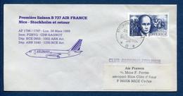 ✈️ Suède - Premier Vol - Nice - Stockholm - Air France - Ouverture Escale - 1988 ✈️ - Aerei