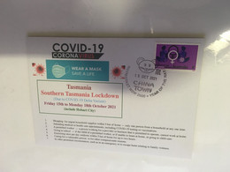 (A 5 14) Australia - TAS State Enter COVID-19 Lockdown Fro 3 Days - Cover With Australian Women Stamp (15-10-2021) - Disease