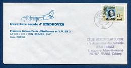 ✈️ Pays Bas - Premier Vol - Paris - Eindhoven - Air France - Ouverture Escale - 1987 ✈️ - Aerei