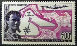 Côte Française Des Somalis, Poste Aérienne, Timbre Neuf * * (MNH), Numéro 25 (Yvert Et Tellier) - Nuovi