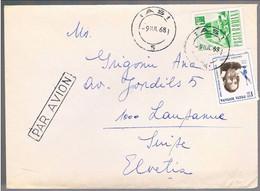 Romania, 1968,  For Lausanne - Lettere
