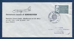 ✈️ France - Premier Vol - Paris - Eindhoven - Air France - Ouverture Escale - 1987 ✈️ - Aerei