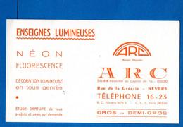 Nevers (58 Nièvre) Carte Professionnelle ARC  Enseignes Lumineuses (PPP32486) - Advertising