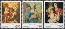 GHANA :1995: Y.1845-50*** Postfris/neufs/MNH : KERSTMIS/NOËL/CHRISTMAS,SCHILDERIJEN/TABLEAUX/PAINTINGS,MURILLO,MEMLING, - Religione
