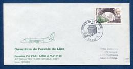 ✈️ France - Premier Vol - Paris - Linz - Air France - Ouverture Escale - 1987 ✈️ - Aerei