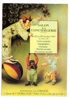 Salon De La Conciergerie 1987 Exposition Le Cirque Scans Recto Verso - Esposizioni