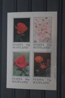 Staffa Scottland, Blumen: Rosen, 1981,  Block, MNH - Rose