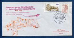 ✈️ France - Premier Vol - Paris - Ouarzazate - Air France - Ouverture Escale - 1987 ✈️ - Aerei