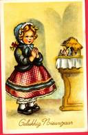 Fillette  -girl  -kinder  - Meisje Aan Kerststal Bidden - Non Classificati