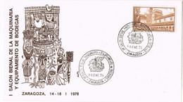 42036. Carta ZARAGOZA 1976.Salon Maquinaria Y Equipamentos De Bodegas. Vino, Wein - 1971-80 Storia Postale