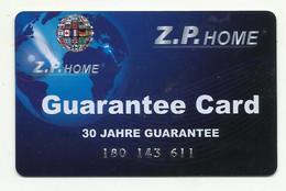 Z.P. Home, Guarantee Card(30 Years). - Non Classificati