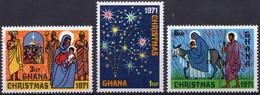 GHANA :1971: Y.418-20*** Postfris/neufs/MNH : KERSTMIS/NOËL/CHRISTMAS. - Natale