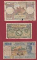 Autres-Afrique 3 Billets Dans L 'état (102) - Other - Africa