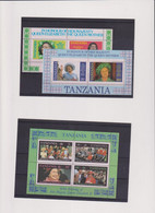 TANZANIE-S.M.REINE ELISABETH II -BLOCS N0 40A-40B---52-  XX-MNH  1985 - Tanzania (1964-...)