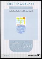 """Germany, 2021 ETB 4/2021,Mi.Nr.3588 Judaika """"1700 Jahre Jüdisches Leben In Deutschland, Germany  """"1 ETB Used - Guidaismo"""
