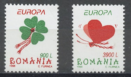Roumanie - Rumänien - Romania 1998 Y&T N°4432 à 4433 - Michel N°5297 à 5298 *** - EUROPA - Nuovi
