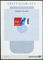 "Germany, 2021 ETB 6/2021,Mi.Nr.3590 ""Digitaler Wandel-mit Matrixcode  ""1 ETB Used - Informatica"