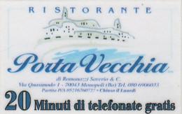 *ITALIA: ALBACOM - RISTORANTE PORTA VECCHIA* - Scheda Usata - Schede GSM, Prepagate & Ricariche
