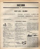 ANNUAIRE - 68 - Département Haut Rhin - Année 1969 - édition Didot-Bottin - 194 Pages - Elenchi Telefonici
